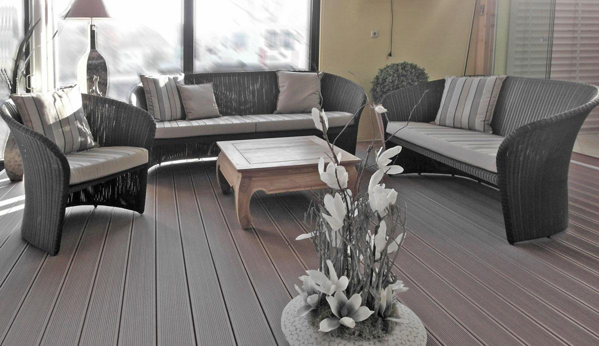 Gartenmöbel Set aus Polyrattan / Kunststoffgeflecht ...
