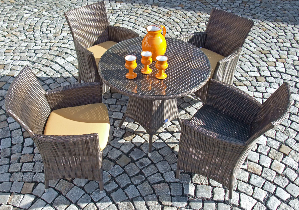 Elegant Amazing With Polyrattan Gartenmbel Set With Rattan Lounge Set Braun