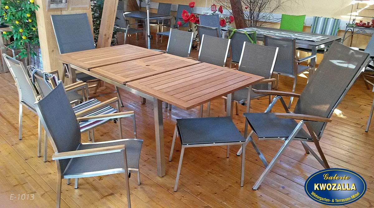 Gartenmöbel Set aus Holz, Metall oder Kunststoff   Kwozalla