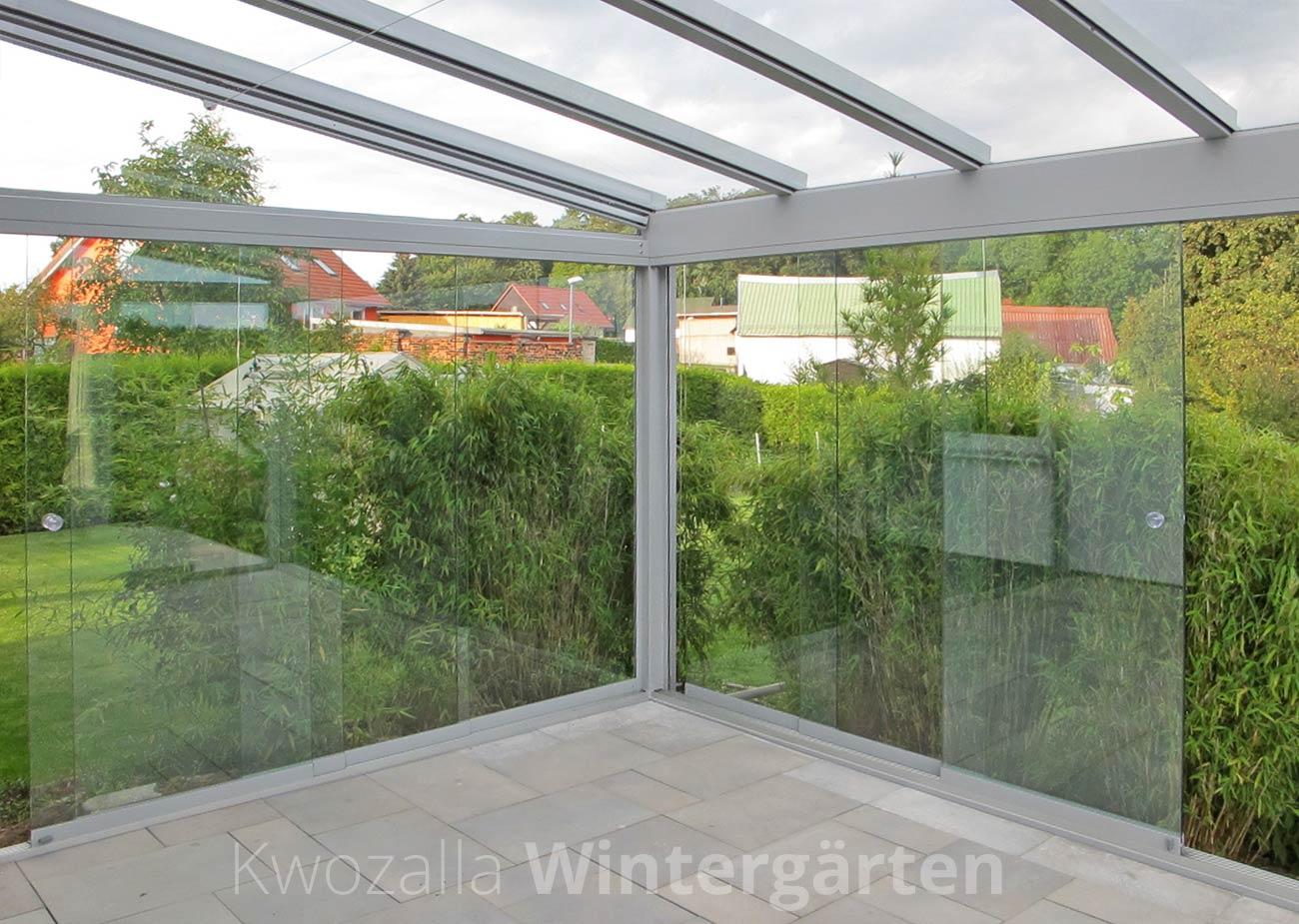 Windschutz - Verglasung der Terrassenüberdachung - Kwozalla ...
